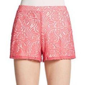 EUC!!! ELLA MOSS Coral Crochet Shorts-LG